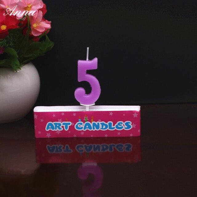 Lila Funf Kerze Kinder Baby Geburtstag Jahrestag Kuchen Zahlen Alter