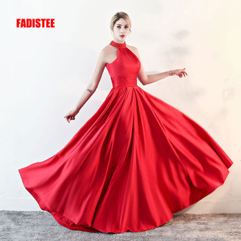 FADISTEE New arrival elegant party dress evening dresses Vestido de Festa gown beading Robe De Soiree prom dress halter neck