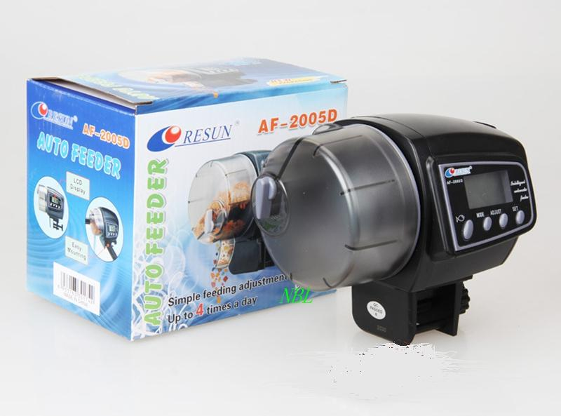 2in1 LCD Automatic Aquarium Fish Feeder Fish Tank Auto Timer Pet Food Feeder Up to 100g  4 feeding Time With Original Box корм tetra tetramin xl flakes complete food for larger tropical fish крупные хлопья для больших тропических рыб 10л 769946