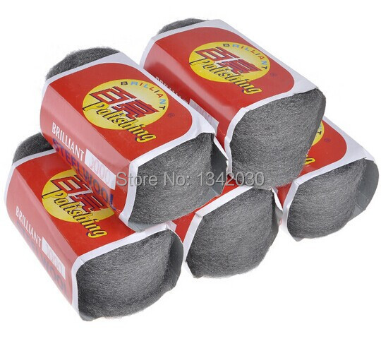 Free Shipping High Quality 5pcs/lot 0000# Metal Fibre Steel Wool, Polishing Wool, Polishing Pad