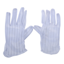1 Pair Anti-static Anti-skid Gloves ESD PC Computer Electronic Working White New