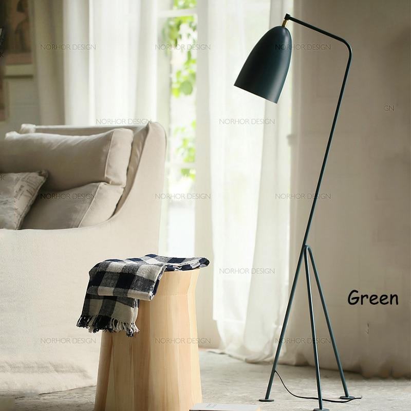 Modern American iron painted E27 LED adjustable floor lamp 110V 220V floor light for living room bedside study room hotel room