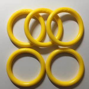 50PCS LIGHT YELLOW COLOR Loop Rings O Links Rattle Developmental Parts Toys