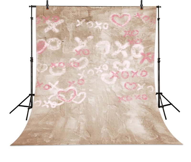Love Romantic Pink Wall backdrop High-grade Vinyl cloth Computer printed wall Photography Backgrounds 8x10ft valentine s day photography pink love heart shape adult portrait backdrop d 7324