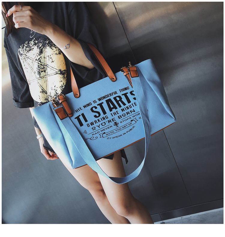 Luxury Ladies Bags Canvas Fashion Large Capacity Tote Bags Letter Shoulder Messenger Bags for Women 2018 Casual Tote Luis Vuiton 12