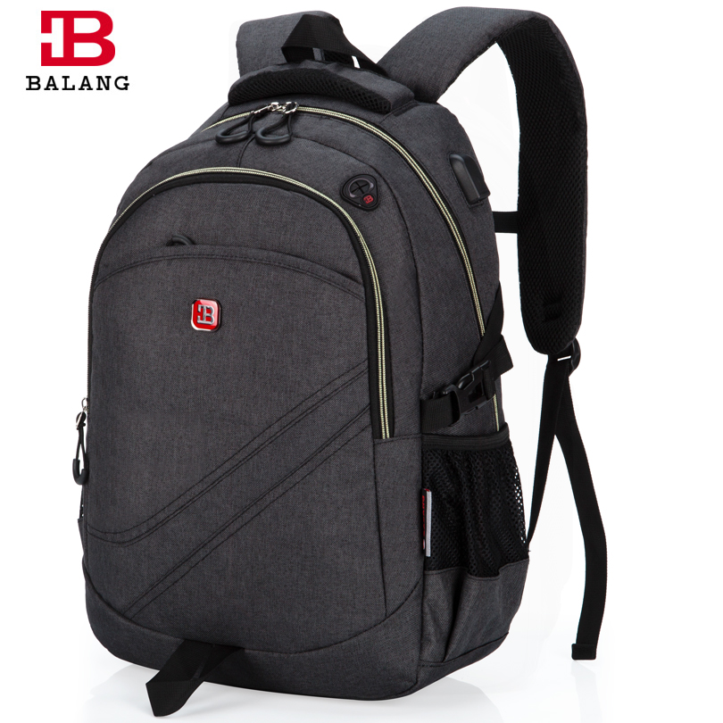 BaLang Laptop Backpack School Men Business Computer Dayback Women Travel Bag 15.6 inch External Charging USB Function 5 Colors kingsons external charging usb function school backpack anti theft boy s girl s dayback women travel bag 15 6 inch 2017 new