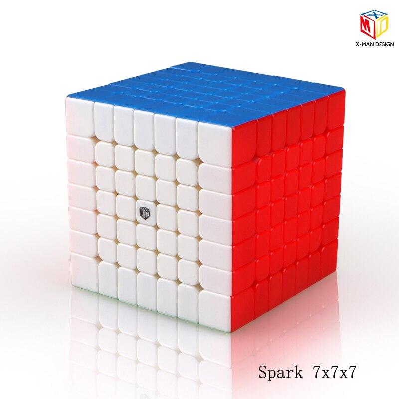 Plus récent Qiyi x-man conception étincelle et étincelle M 7X7x7 Cube magnétique professionnel Mofangge 7x7 magique vitesse Cube torsion jouets éducatifs - 5