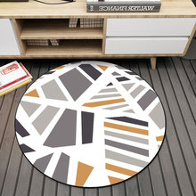 Modern New Carpet Round Carpets Home Hotel Floor Décor Bedroom Living room Foot Pads Rug Anti Slip Mats Circle Area Carpet