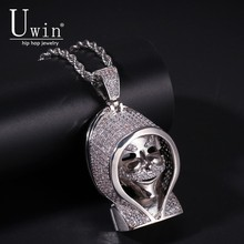 UWIN Night Walker Pendant Wearing Cloak Bling Copper Material Necklace Chain Fashion Hiphop Jewelry