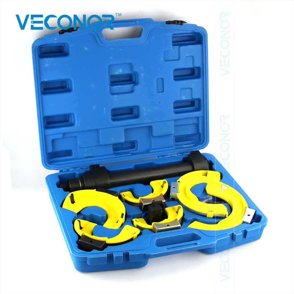 все цены на VECONOR New Style Strut Coil Spring Compressor Dumper Extractor Tools Kit Interchangeable Fork Spring Compressor Multi-function онлайн