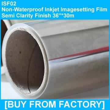 "Transparency Film Inkjet /Novajet/Kimoto/Clearjet 36""*30M"