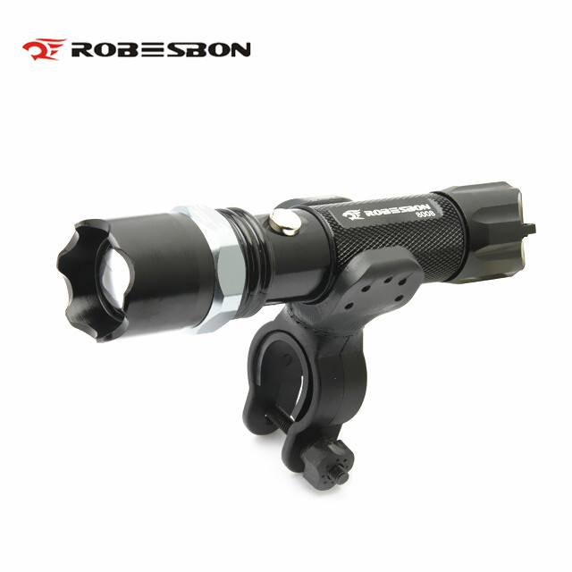ROBESBON Led Headlight LED Flashlight Lamps Bicycle Bike Light Lamp Front Torch Waterproof Torch Holder Bicycle Accessories