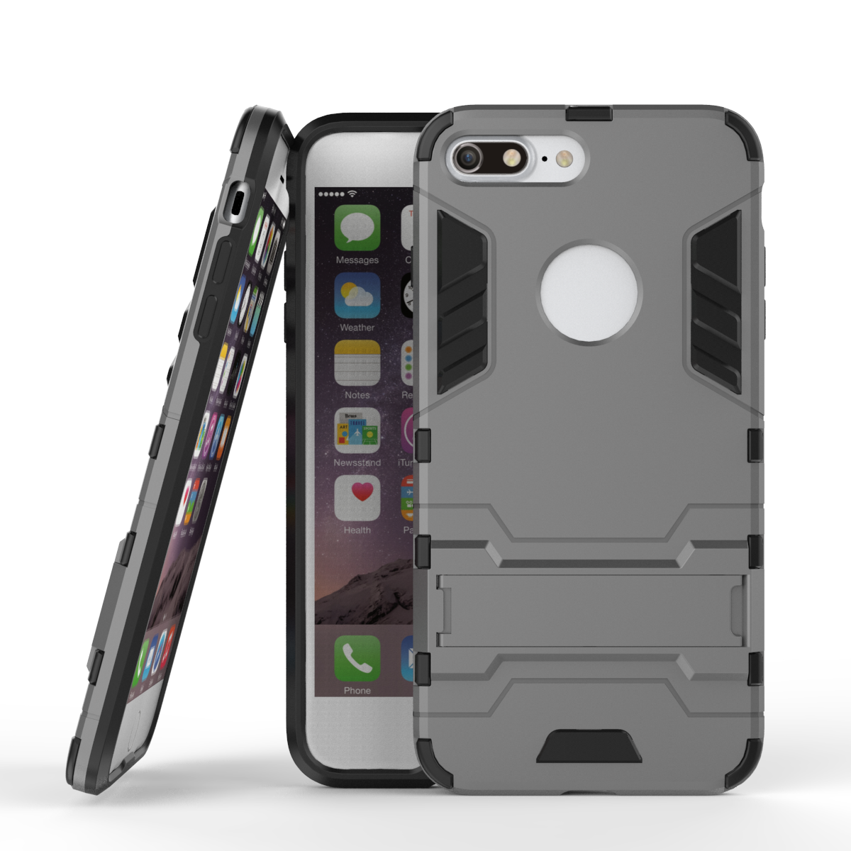 Untuk iPhone 7 Ditambah Kasus Tugas berat Armor Kasus Hybrid Keras  Shockproof Silicon Karet Kasus Telepon Cover Untuk Apple iPhone 7 Ditambah  5.5 5baf1ef2a7