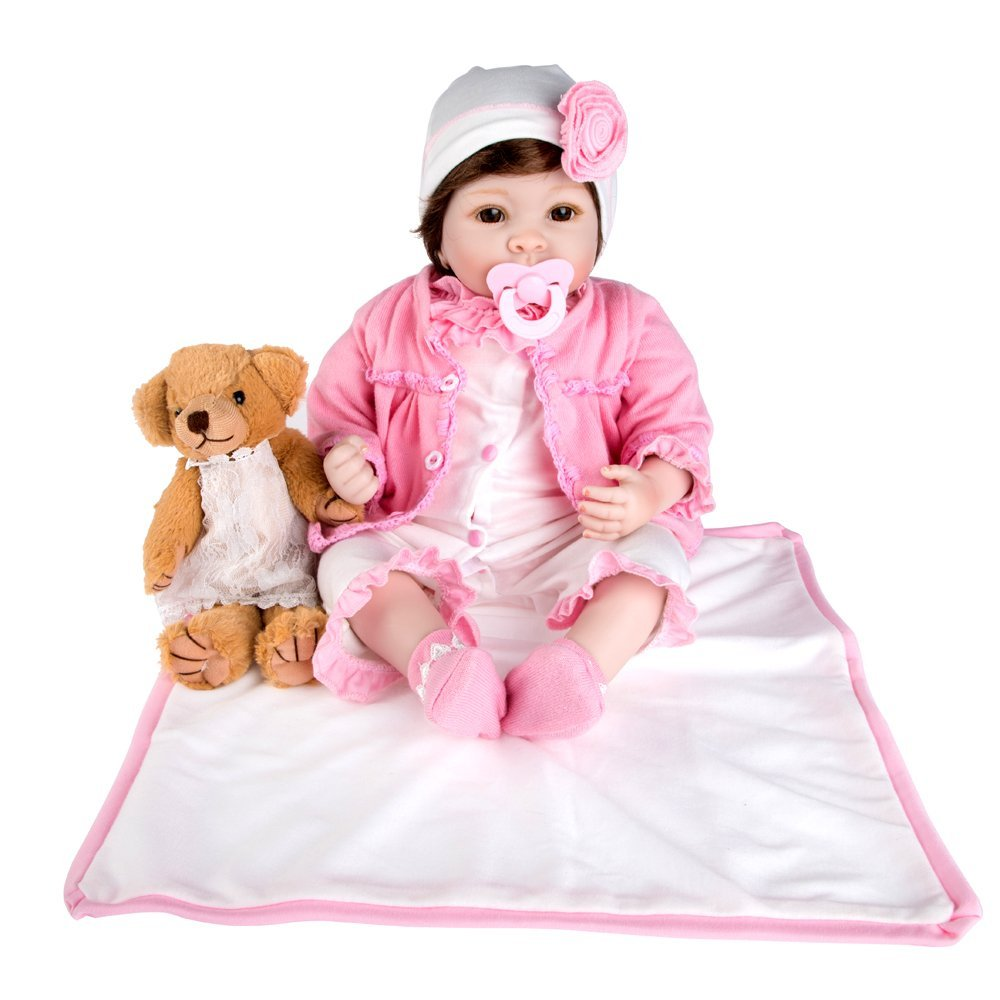 Rolimate Lifelike Realistic Baby Doll, Tall Dreams Gift Set Ensemble, Girl Doll Crafted in Soft Vinyl and Weighted Body, 22 inch