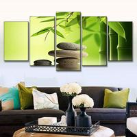 Decoration Painting 5 Pcs/Set Modern Bamboo Stone Scenery Wall Art Picture Canvas Print Painting for Home Decorative Unframed