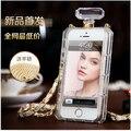 Para iphone6plus5.5 com uma cadeia de pendurar no pescoço luva protetora shell para iphone6 caso S silicone frasco de perfume