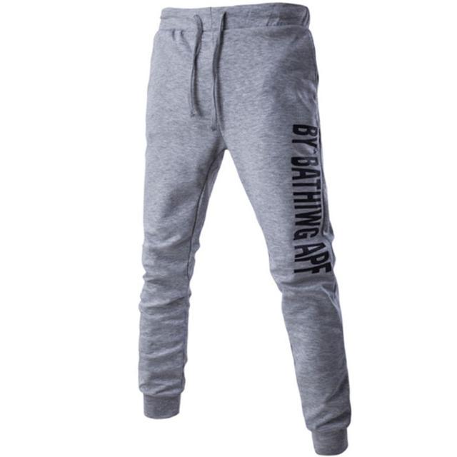 Mens Joggers Pantalones 2017 Marca Hombre Pantalones Cargo Sólido Delgado Medias Carta Pantalones de Compresión Hombres Basculador 2XL
