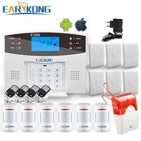 Comfortable Keyboard M2C Wireless GSM Alarm System LCD Screen For Home Burglar Alarm System Sensor Detector