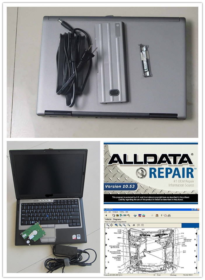 2016 alldata repair software v10.53 with mitchell with 1tb hdd installed in d630 computer ready to work