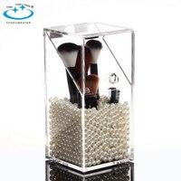 Transparent Acrylic Cosmetic Organizer Makeup Brush Storage Boxmakeup Dustproof Home Storage Tools Sundries Organizer holder