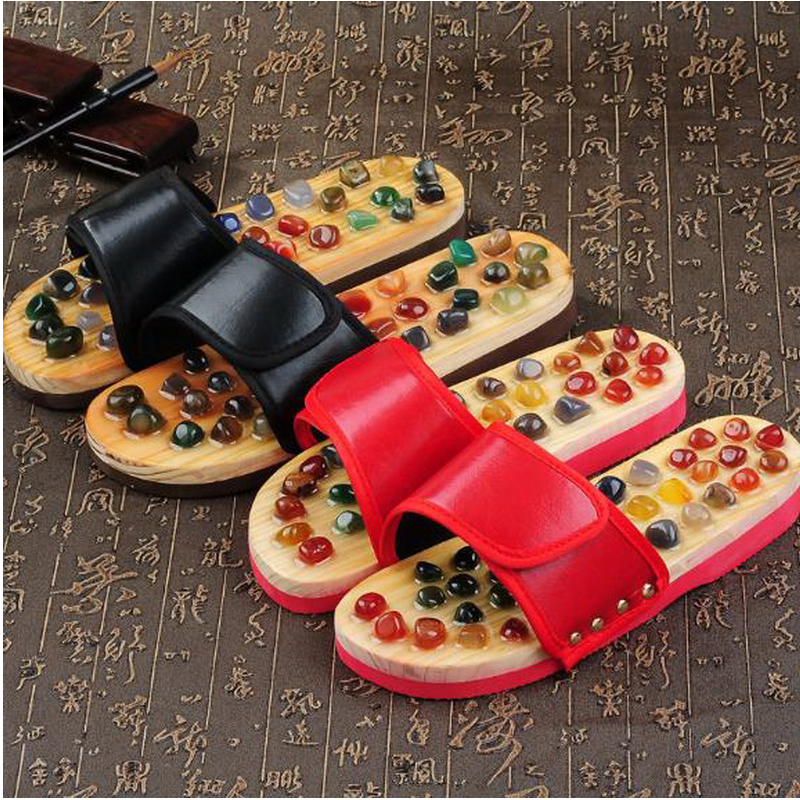170620/Pebbles massage slippers / foot acupressure foot shoes / men and women summer soles of the feet home care indoor slippers