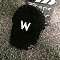 WOMEN  w letter  Snapback   Visor  unisex  suede pattern baseball caps