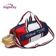 Oddzielne kieszenie na suche i mokre rzeczy torba na Fitness Cylinder wodoodporne podróże przenośne torby sportowe sport bolsa tassen tas gym torebka na ramię