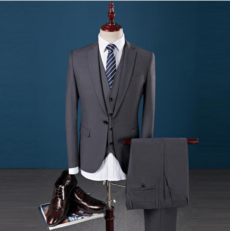 2019 Latest Coat Pant Designs Slim Fit Fashion One Button Wedding Dress Best Man Leisure Business Suits Men 3 Pieces Ternos