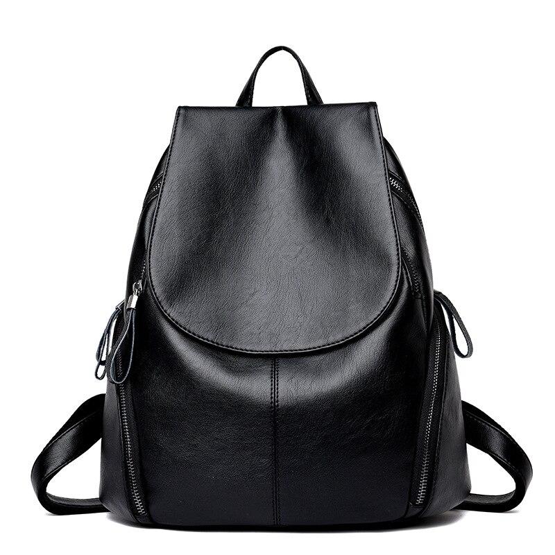 2018 New Fashion Women Leather Backpack High Quality Woman Backpacks Female Travel Shoulder Bag College Wind School Bag