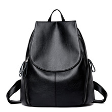 2019 New Fashion Women Leather Backpack High Quality Woman Backpacks Female Travel Shoulder Bag College Wind School Bag high quality women bag college wind school bag backpack girl mochila women backpacks leather female travel shoulder bag backpack