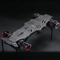 1Set MSTRMX 2.0 S Chassis Frame RRX Carbon Fiber Bottom Chassis Rack Hydraulic Radio Tray for RC Cars Upgrade Parts