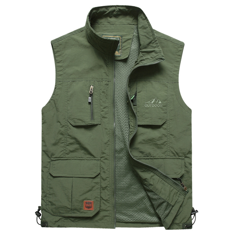 Men's Vests Summer Sleeveless Quick-drying Vest Spring Autumn Casual Travels Vest Photography Thin Vest Waistcoat Male Clothes