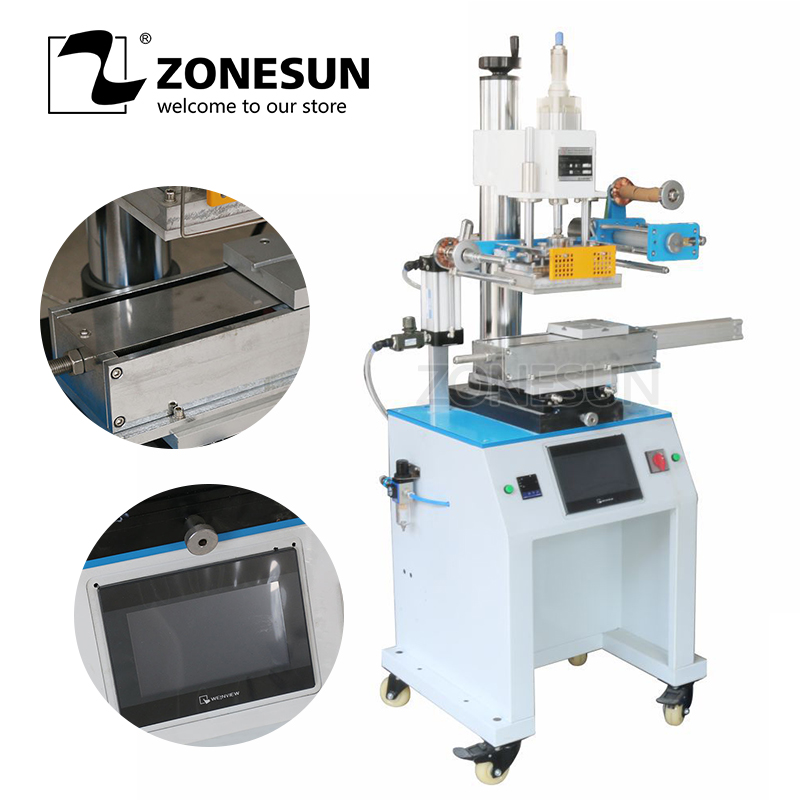 ZONESUN ZY-819R 150*230mm Customized Round or Cap cosmetic bottle hot foil stamping machineZONESUN ZY-819R 150*230mm Customized Round or Cap cosmetic bottle hot foil stamping machine