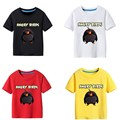 Boys t shirt Summer Angry birds leisure Short sleeve Child shirt brand boys clothes