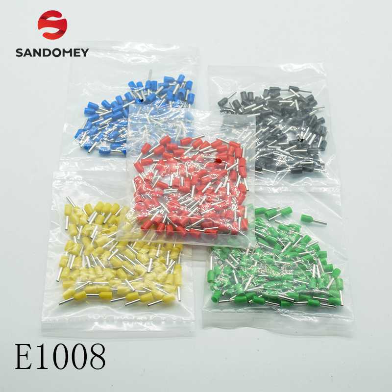 <font><b>E1008</b></font> Tube insulating Insulated terminals 1MM2 Cable Wire Connector Insulating Crimp Terminal Connector 100PCS/Pack image