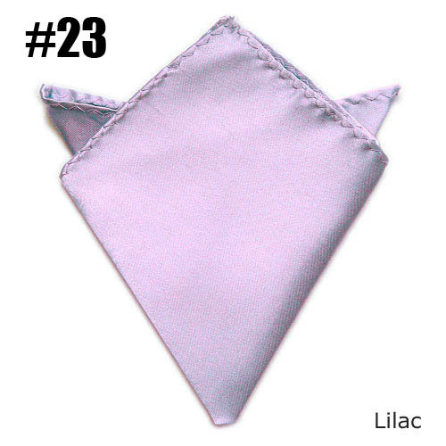Lilac Gentlenmen Solid Pocket Squares Fashion Suit Satin Handkerchieves (24 Colors For Choose)
