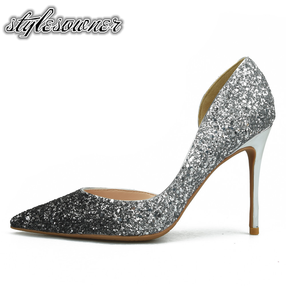 Stylesowner High End All-match Shallow Woman Pumps Shoes Sexy Pointed Toe Stiletto Shoes For Woman High Heels 8cm Heels Mature korean woman high heel pointed toe solid mujer pumps shallow mouth square heels womens shoes work office lady all match tacones