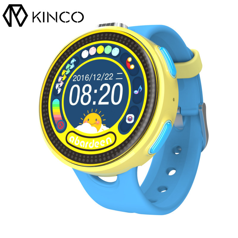 KINCO Children Bluetooth Camera Smart Watch SIM GPS Anti-lost IP65 Tracker SOS Calls Wifi Kids Smart Watches for IOS/Android 1 2 inch android ios children smart watch phone s866 bluetooth sim gsm wifi lbs sos gps real time positioning tracker for kids