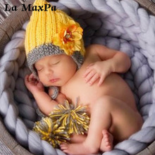 New Fashion Soft Baby Hat Children Cap With Flower Warm Winter Hats Cute Beanie Knitted Wool Spring Autumn hats Photography