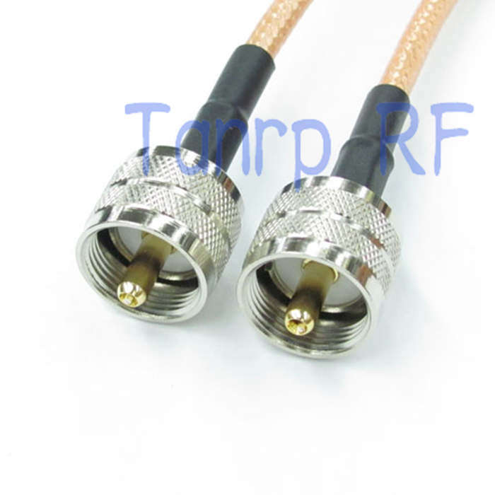 2pcs RG142 extension Cabel 50CM Pigtail jumper coaxial cable 20INCH UHF male plug to UHF male plug RF connector adapter
