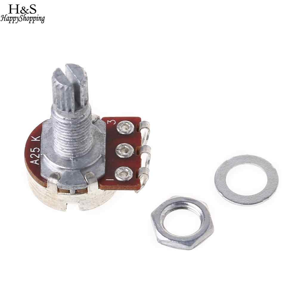 medium resolution of  1 pc a25k electric bass guitar potentiometer pot effect pedal 18mm shaft parts