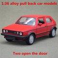 1:36 сплав вытяните назад автомобиль модели, высокая моделирования Volkswagen Golf GTI второго поколения, металл diecasts, toy транспорт, бесплатная доставка