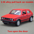 1:36 alloy pull back car models,high simulation Volkswagen Golf GTI second generation,metal diecasts,toy vehicles,free shipping