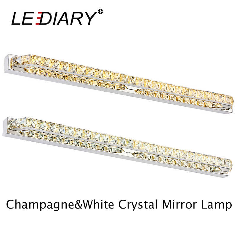 LEDIARY Modern K9 Crystal 26W 130LED 100cm Sconces LED Wall Lamp 100-240v Mirror Front Light Lamp Bathroom Waterproof Driver