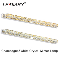 LEDIARY Modern K9 Crystal 26W 130LED 100cm Sconces LED Wall Lamp 100 240v Mirror Front Light Lamp Bathroom Waterproof Driver