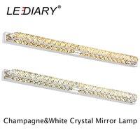LEDIARY Modern K9 Crystal 26W 130LED 100cm Sconces LED Wall Lamp 100 240v Mirror Front Light Lamp Bathroom Waterproof Driver