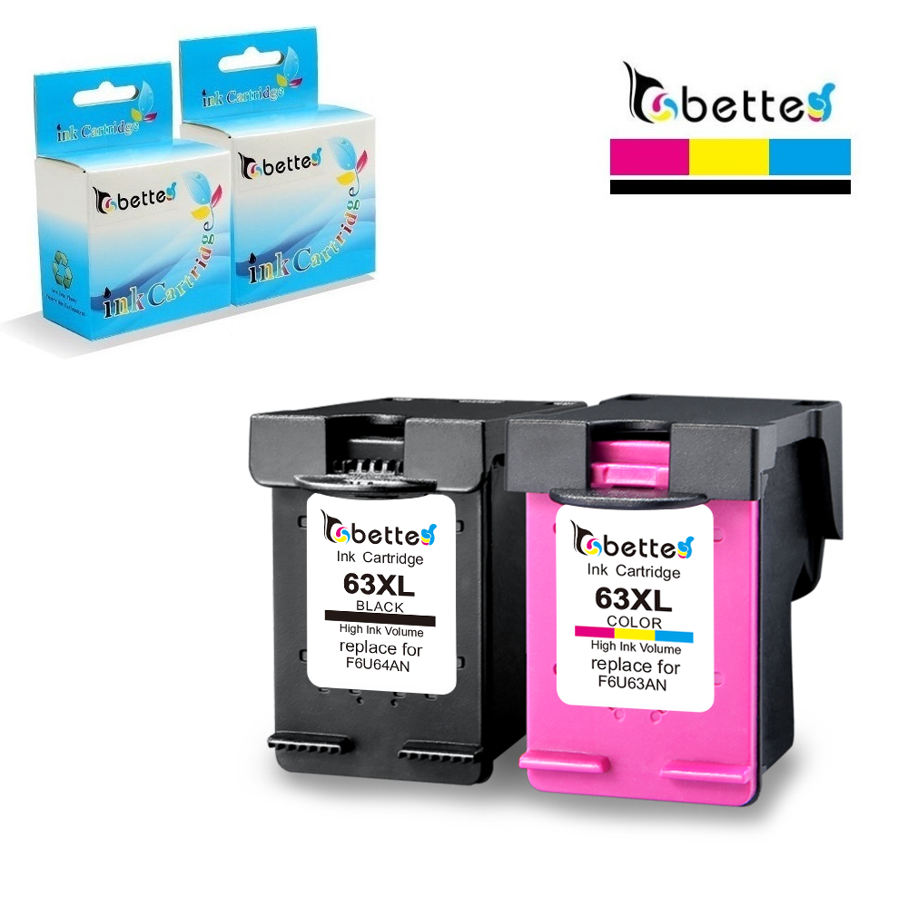 4PK Reman Replacement Ink for HP 63XL HP F6U64AN F6U63AN 2 HY Black 2 HY Color
