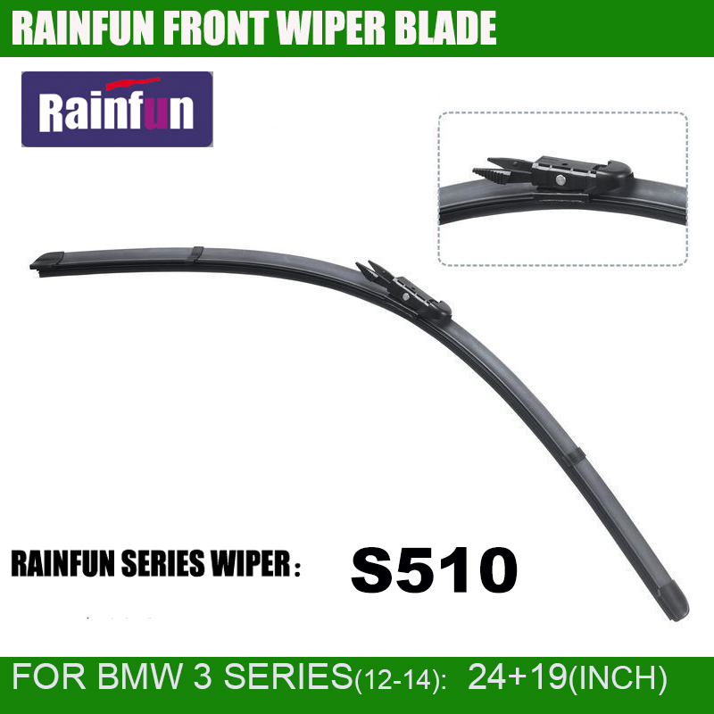 RAINFUN 24+19 inch dedicated car <font><b>wiper</b></font> blade for 2012-2014 <font><b>BMW</b></font> 3 SERIES <font><b>F30</b></font>/F31, high quality auto <font><b>wiper</b></font> blade image