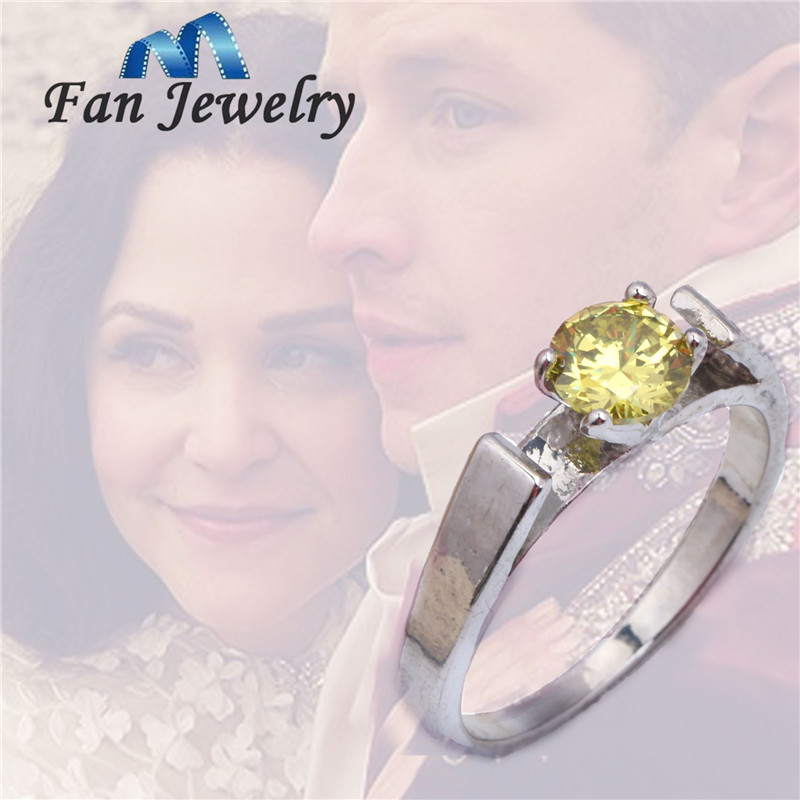 Aliexpresscom buy snow white green engagement ring from for Snow white wedding ring once upon a time