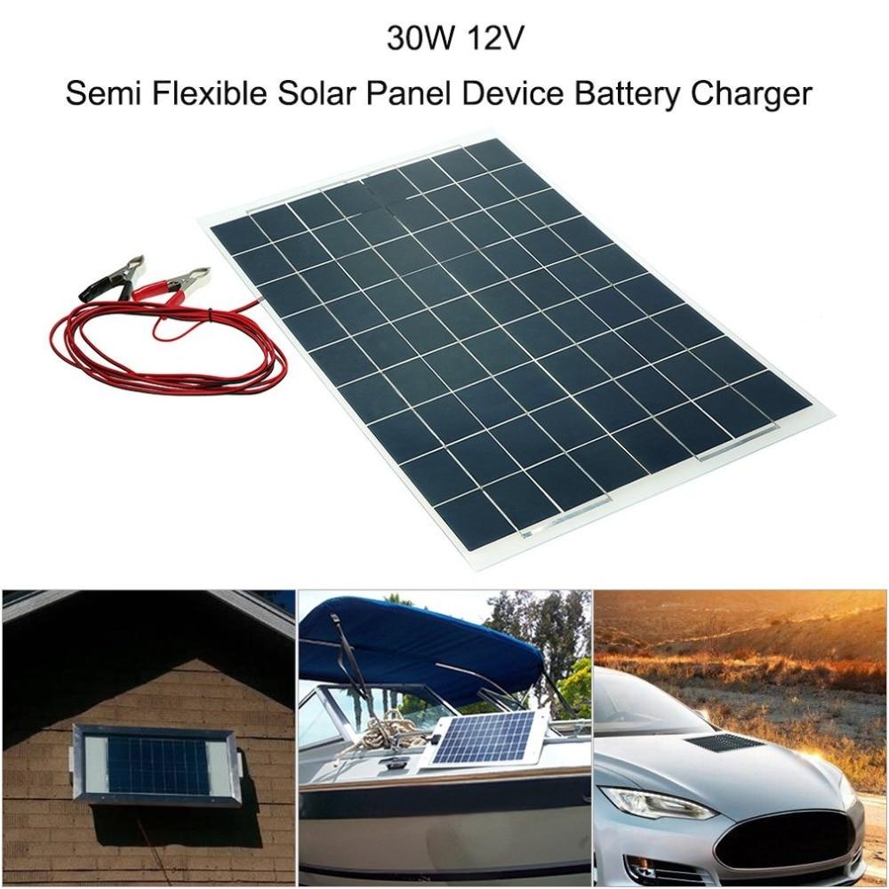30 W 12 V panneau solaire chargeur solaire téléphone batterie chargeur Mini époxy polycristallin cellules pour téléphone portable chaud